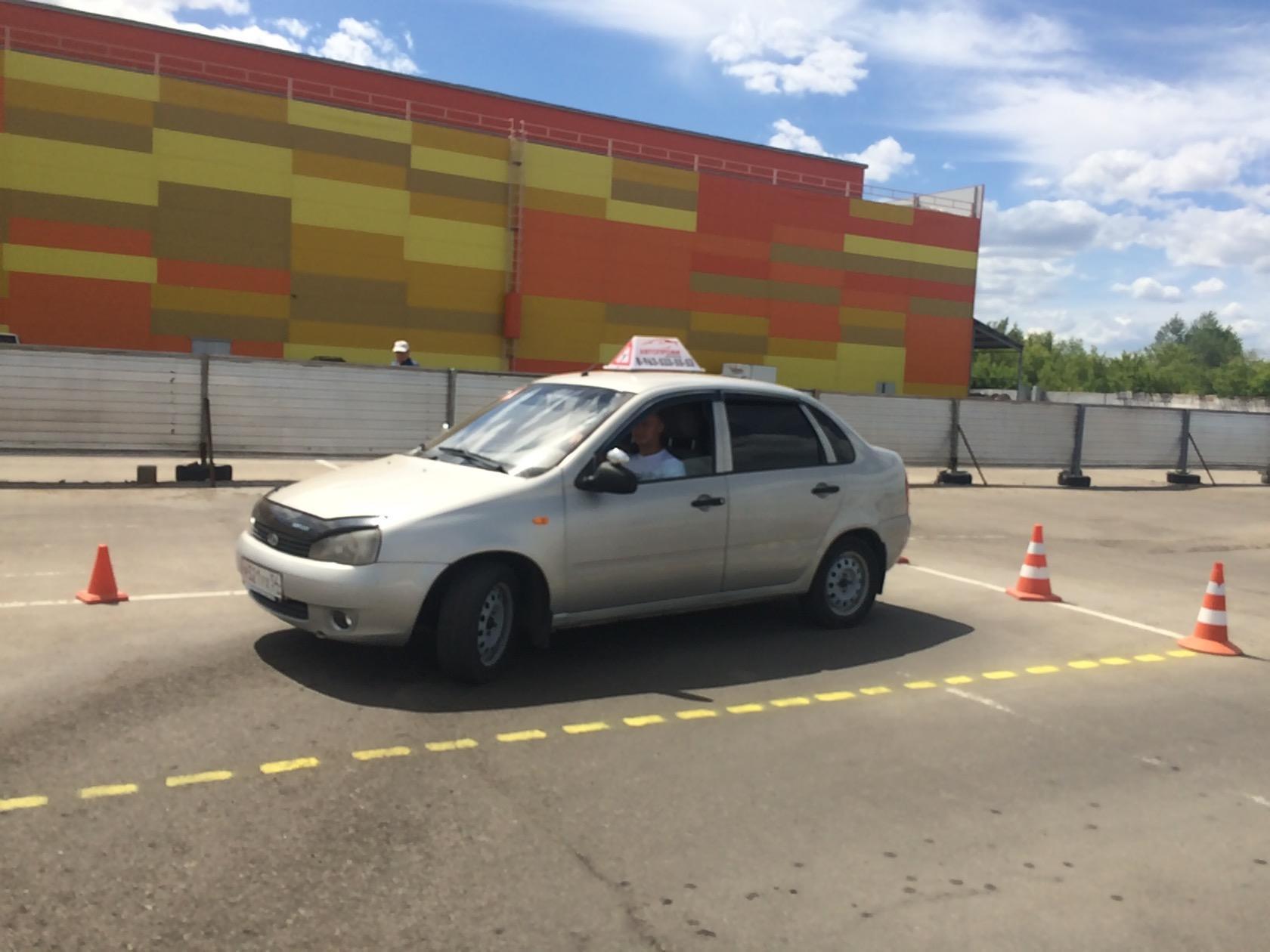 """учебный процесс на автодроме """"АвтоПрофи"""""""